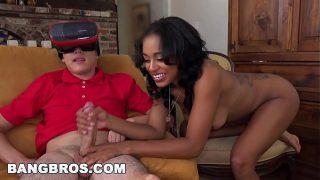 Virtual Sex With Hot Ebony Stepsister